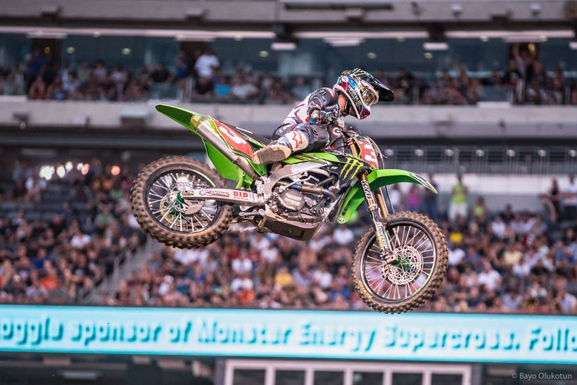 Monster Energy Kawasaki's Eli Tomac made a costly mistake in the 450 Class main event that cost him the championship points l