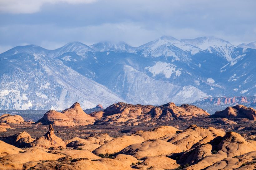 Petrified Dunes and the La Sal Mountains