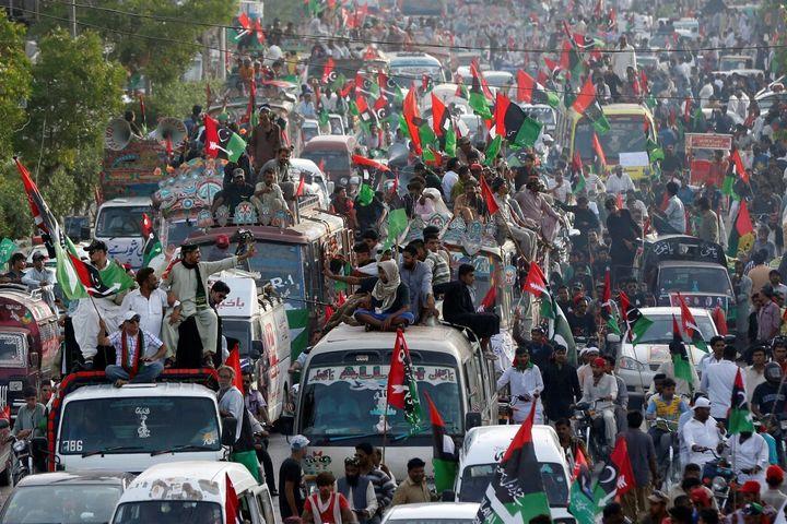 May Day march in Karachi, Pakistan