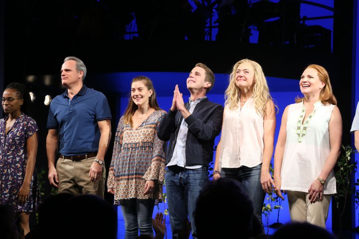 Cast members Kristolyn Lloyd, Michael Park, Laura Dreyfuss, Ben Platt, Rachel Bay Jones and Jennifer Laura Thompson attend cu