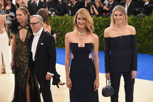 Dee Ocleppo, Tommy Hilfiger, Laura Dern and guest
