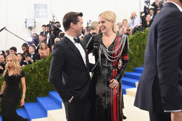 Andrew Rannells and Riley Keough