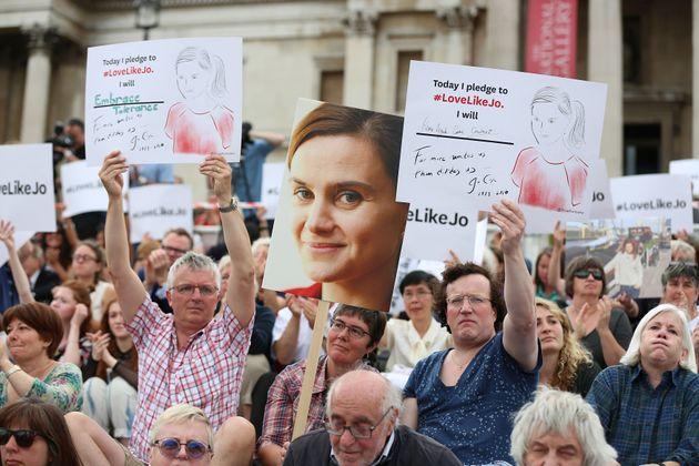 A celebration of Jo Cox's life in Trafalgar Square in June