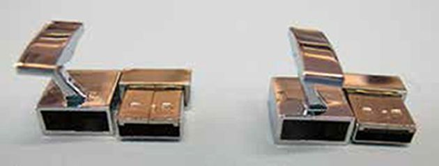 The USB cufflinks Ullah used to conceal his support for Islamic