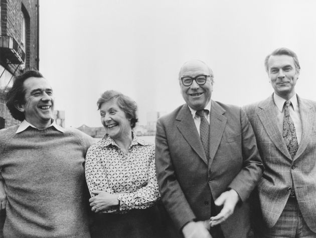 (From left) William Rodgers, Shirley Williams, Roy Jenkins and David Owen, known as the Gang of...