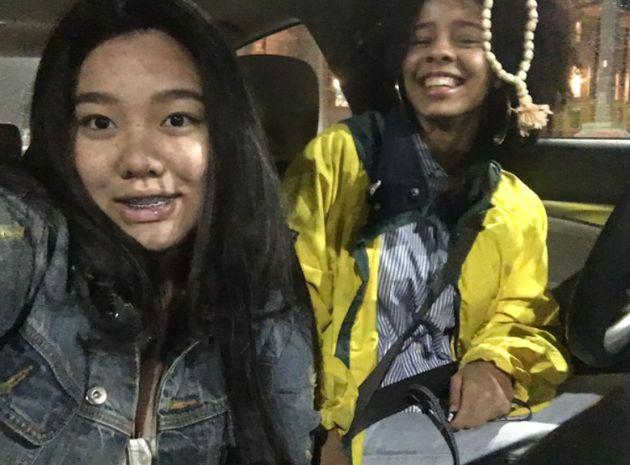 Shami (right) with her bestie,Diamond