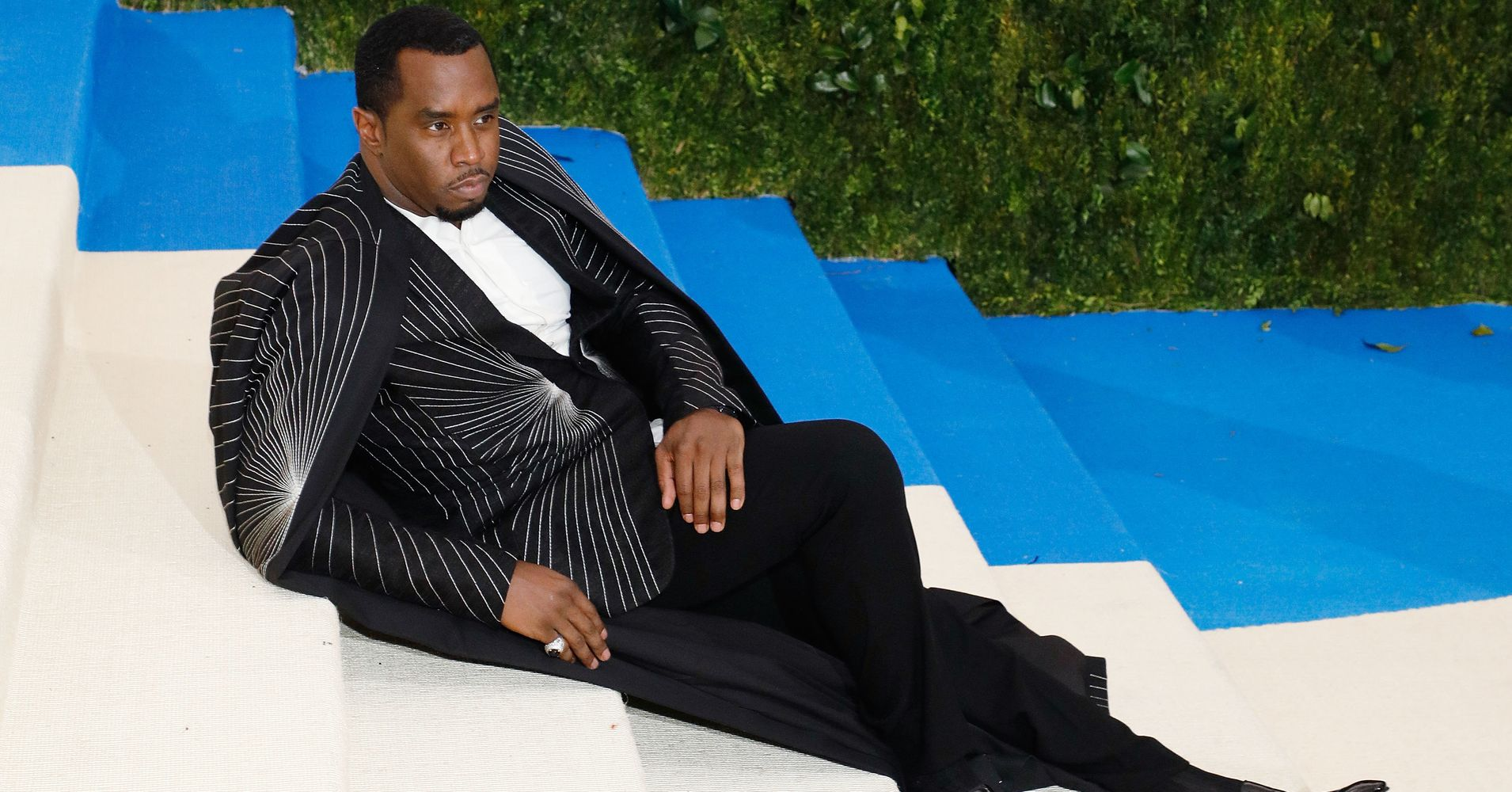 Diddy Takes A Seat On The Steps At Met Gala Becomes A