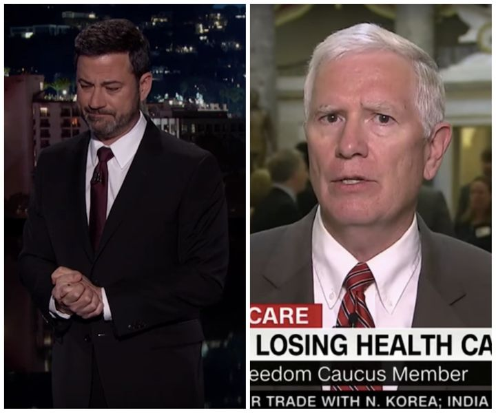 Late-night host Jimmy Kimmel and Rep. Mo Brooks (R-Ala.) have very different views on what kind of country they wan