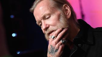 NASHVILLE, TN - DECEMBER 11:  Gregg Allman speaks to the press before the Skyville Live & USA TODAY Presents A Salute to Gregg Allman on December 11, 2015 in Nashville, Tennessee.  (Photo by Rick Diamond/Getty Images for Skyville)
