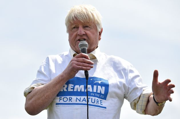 Stanley Johnson at a Remain rally just before
