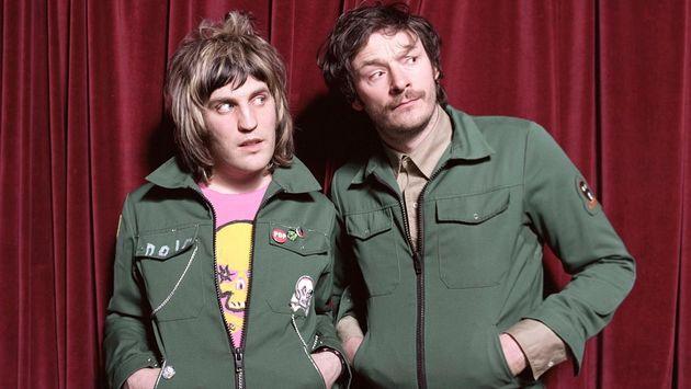 Julian with Noel Fielding in their 'Mighty Boosh'