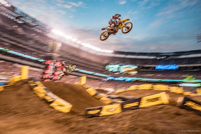 Justin Barcia had one of his better races of the year in MetLife Stadium. Born in NJ, the Autotrader/JGR/Suzuki rider had his