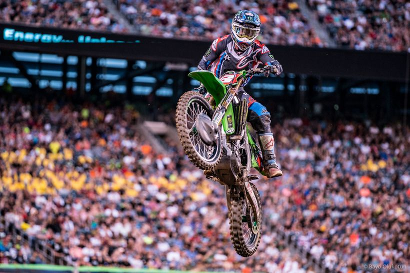If there was one single race when the 2017 Monster Energy Supercross Championship flipped, it was the New Jersey SX. Eli Toma