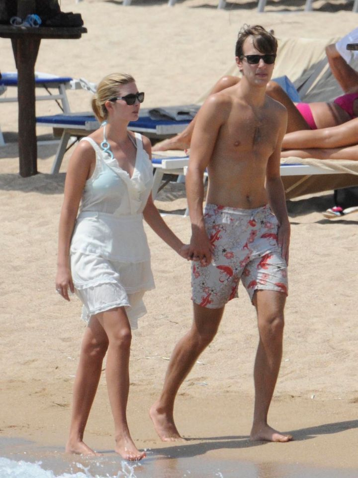 Ivanka Trump, the daughter of Ivana and Donald Trump, spending a few days on holiday with her husband Jared Kushner onAugust 19, 2010.