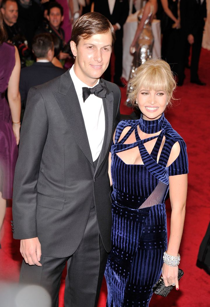 Jared Kushner (L) and Ivanka Trump attend the 'Schiaparelli And Prada: Impossible Conversations' Costume Institute Gala at the Metropolitan Museum of Art on May 7, 2012 in New York City.