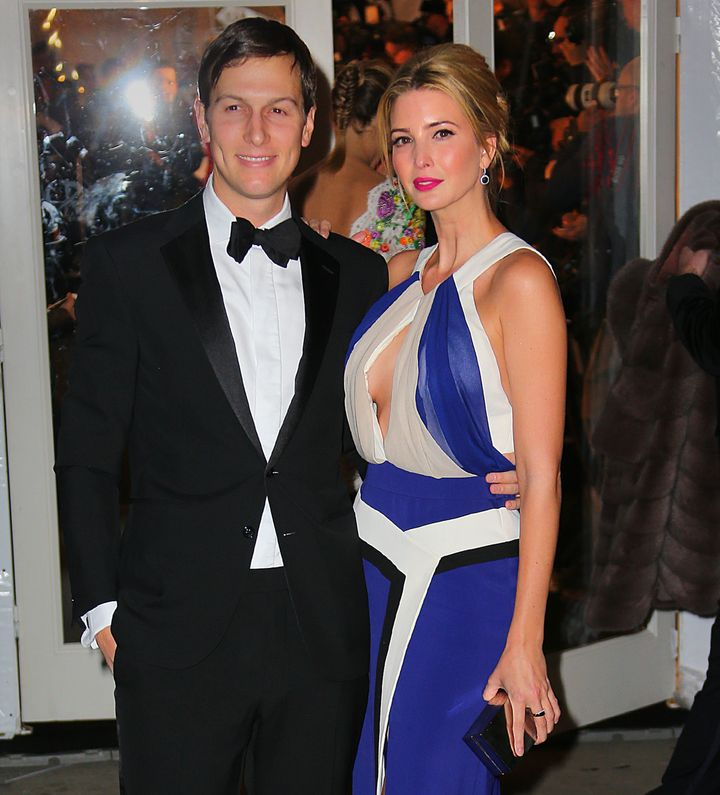 Ivanka Trump and Jared Kushner are seen on February 11, 2015 in New York City.