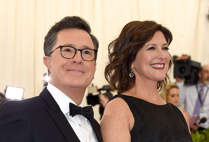 Stephen Colbert and Evelyn McGee-Colbert at the Met Gala.