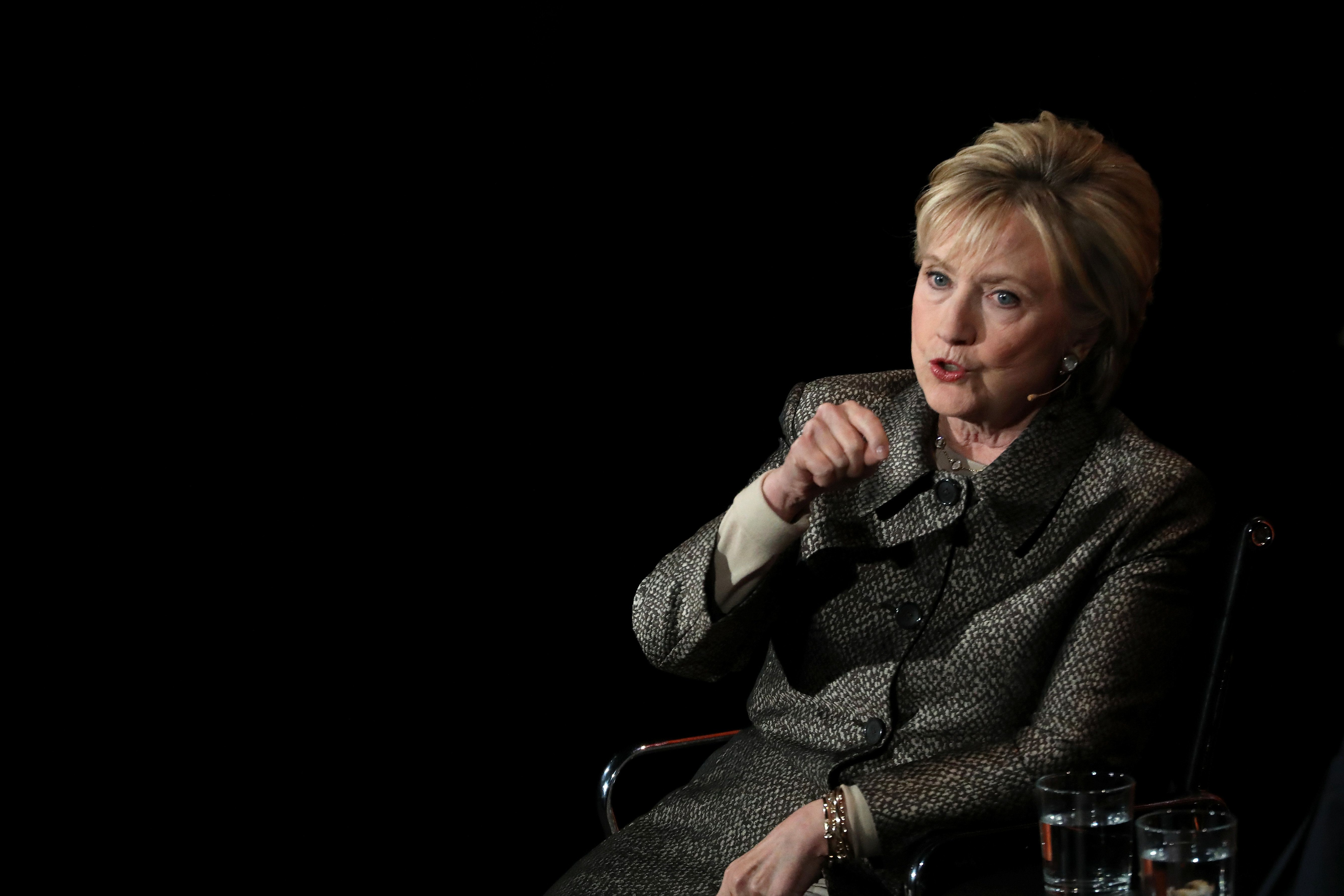 Former Secretary of State Hillary Clinton spoke about her postelection life