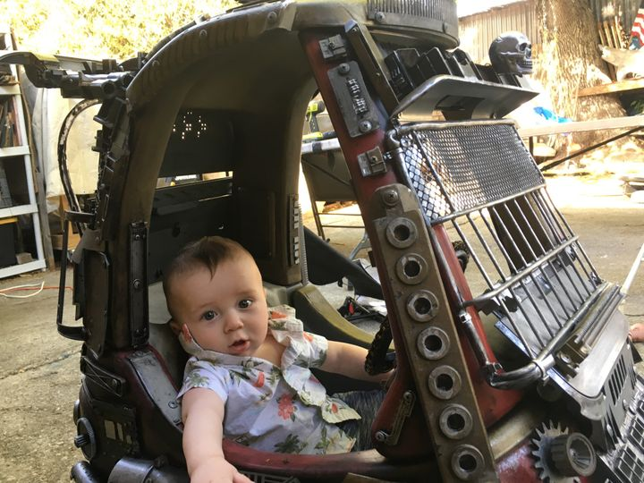 Pfaff said 5-month-old Benji is too young to appreciate his car now, but is sure he'll love it when he gets older.
