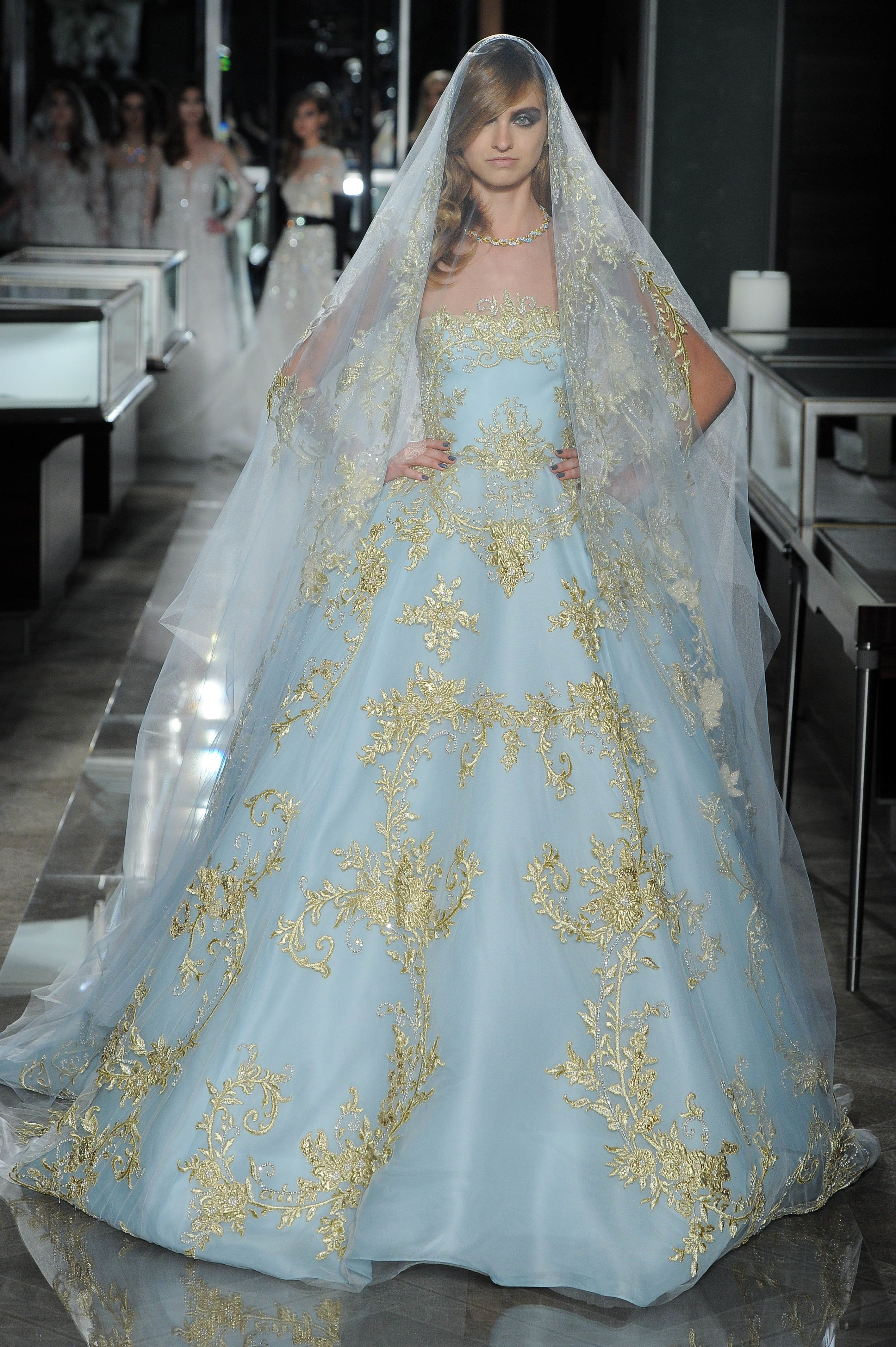 Courtesy Of Reem Acra: Non White Wedding Dress At Websimilar.org
