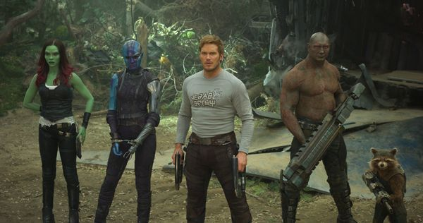 Directed by James Gunn &bull; Written by James Gunn<br><br>Starring Chris Pratt, Zoe Saldana, Dave Bautista, Bradley Cooper,