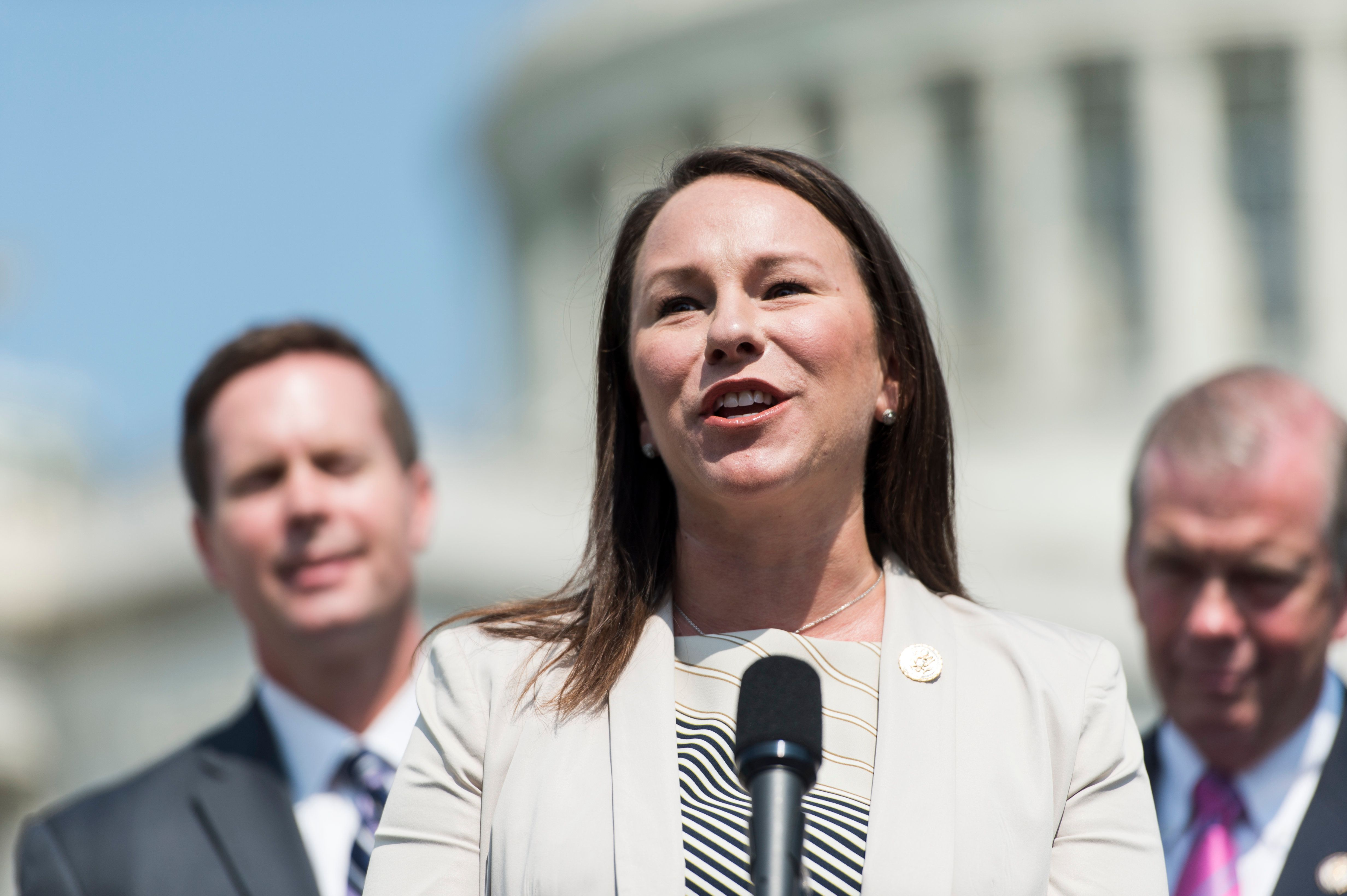 UNITED STATES - JULY 30: Rep. Martha Roby, R-Ala., speaks during the House Republicans' news conference on 'Solutions to Empower Women At Work & At Home' on Wednesday, July 30, 2014. (Photo By Bill Clark/CQ Roll Call)