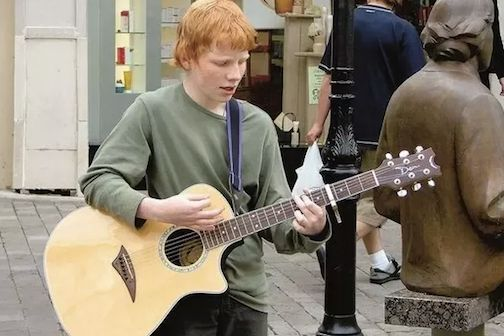 <p><strong><em>Former busker Ed Sheeran — even today's stars had to get connected</em></strong></p>