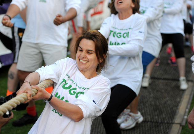 Jo Cox at a charity event just weeks before her