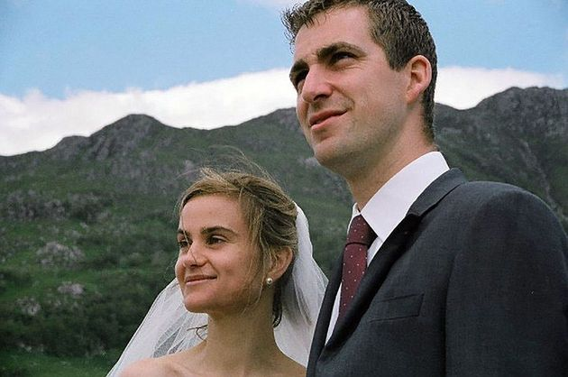 Brendan and Jo Cox on their wedding