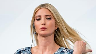 BERLIN, GERMANY - APRIL 25: First Daughter and Advisor to the US President Ivanka Trump attends the W20 conference on April 25, 2017 in Berlin, Germany. The conference, part of a series of events in connection with Germany's leadership of the G20 group of nations this year, focuses on women's empowerment, especially through entrepreneurship and the digital economy. (Photo by Patrick van Katwijk/Getty Images)