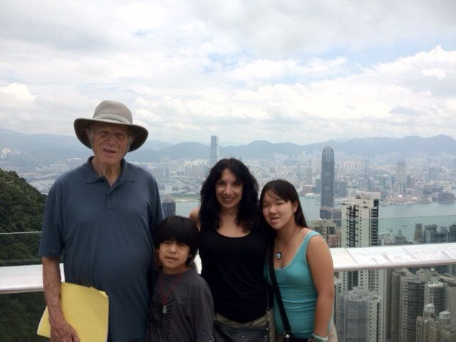 The author and her family in Hong Kong