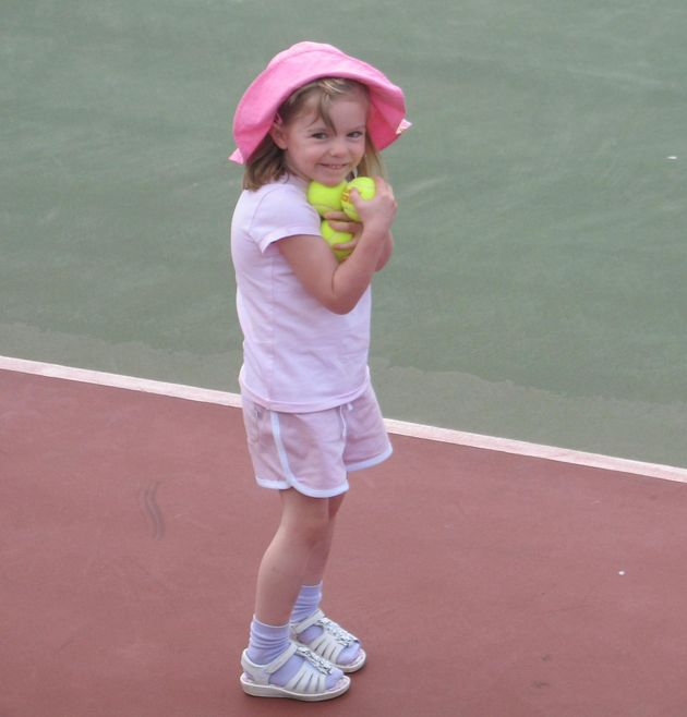 A photograph of Madeleine taken while the family were on holiday in Praia da Luz in southern