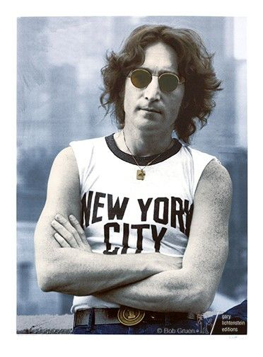 Bob Gruen<em>, John Lennon-NYC-1974</em>. Presented by Gary Lichtenstein Editions.