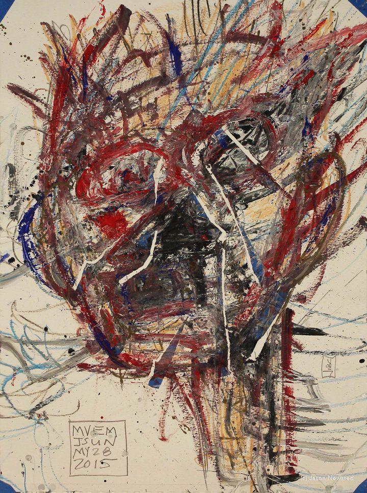 <p>Jason Newsted, <em>Self Portrait 52</em> </p>