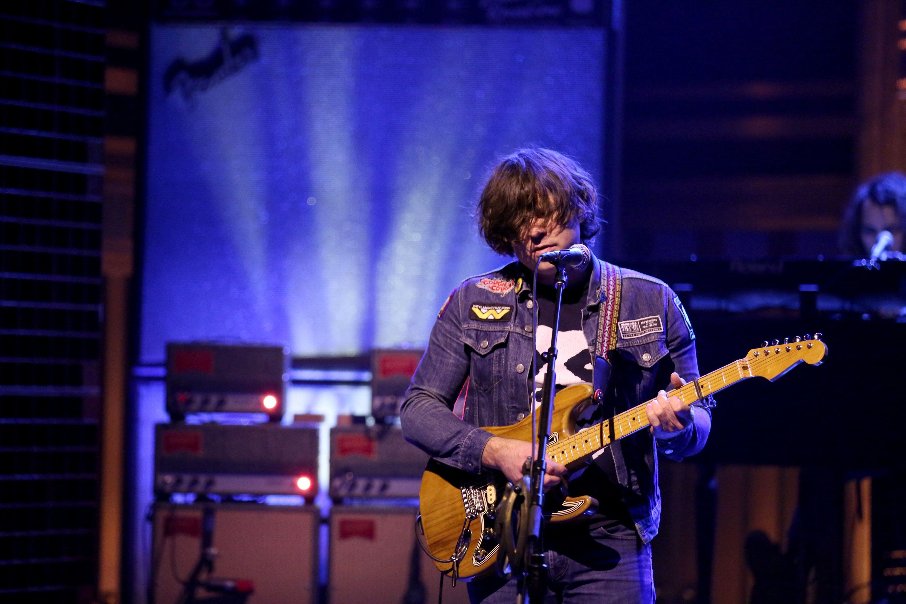 THE TONIGHT SHOW STARRING JIMMY FALLON -- Episode 0627 -- Pictured: Musical guest Ryan Adams performs on February 17, 2017 -- (Photo by: Andrew Lipovsky/NBC/NBCU Photo Bank via Getty Images))