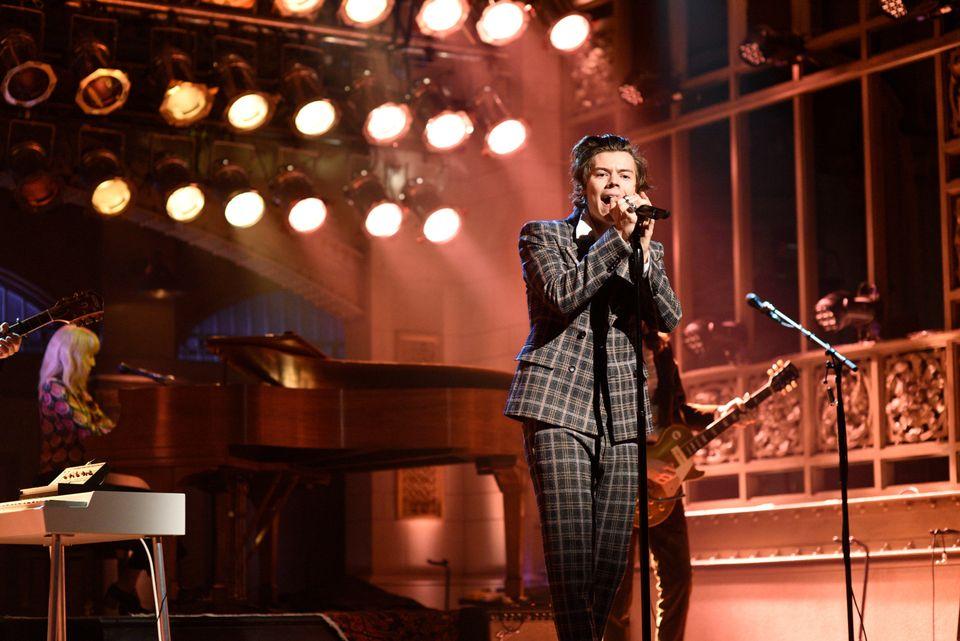 "Rad in plaid at ""Saturday Night Live"" in April 2017."
