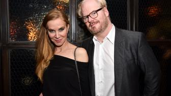 NEW YORK, NY - APRIL 12:  Jeannie Gaffigan and Jim Gaffigan attend The Cinema Society with NARS & AVION host the after party for Sony Pictures Classics' 'Norman' at The Skylark on April 12, 2017 in New York City.  (Photo by Jared Siskin/Patrick McMullan via Getty Images)