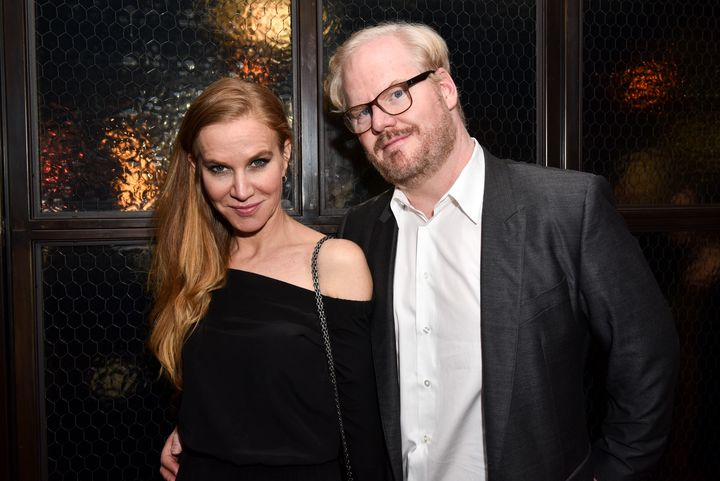 The couple attended a party April 12 in New York City shortly before Jeannie Gaffigan had surgery to remove the tumor.