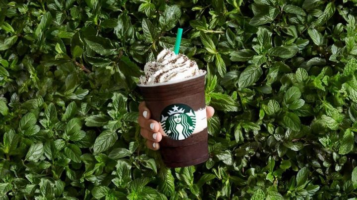 Starbucks' Midnight Mint Mocha Frappuccino.