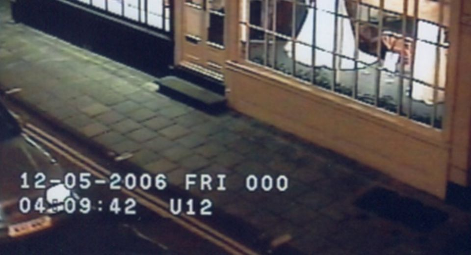 This image of a car in Ipswich city centre was captured after Luke was last seen on