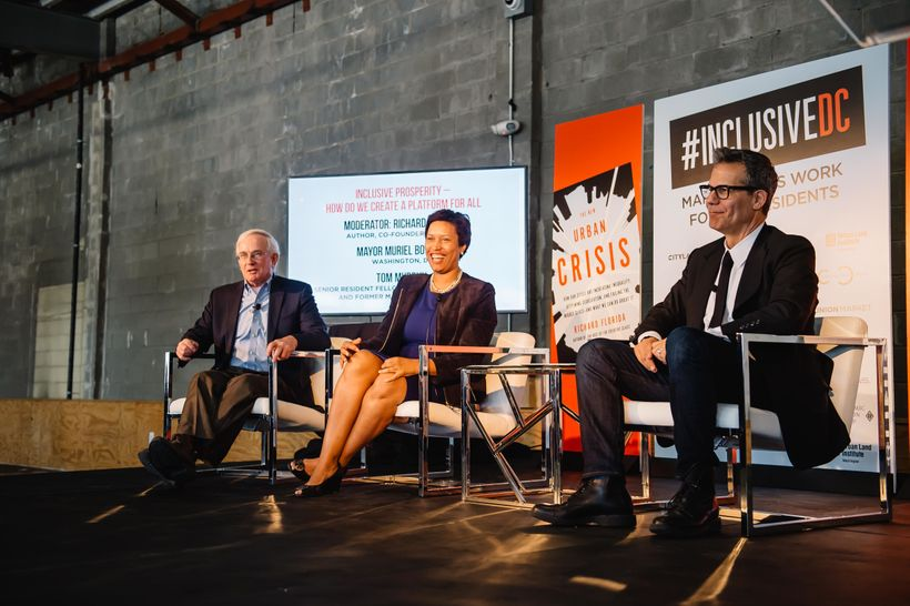Washington, D.C. Mayor Muriel Bowser, former Pittsburgh Mayor Tom Murphy and Richard Florida discuss how to build more inclus