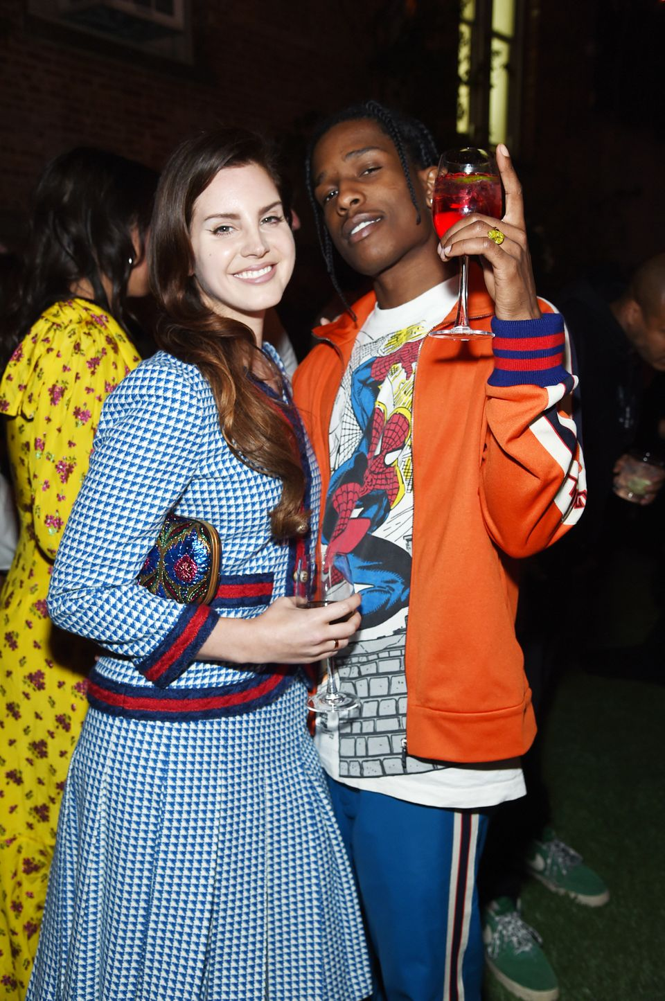 Lana Del Ray and A$AP Rocky attend the Gucci Bloom Fragrance Launch at MoMA PS.1 on May 2, 2017 in New York City.