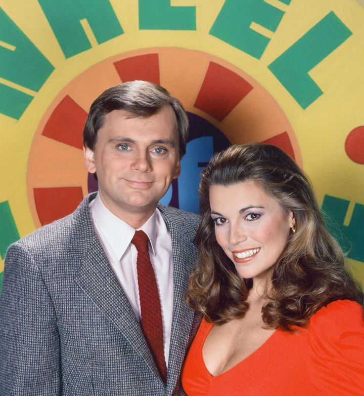 "Pat Sajak and Vanna White on Season 10 of ""Wheel of Fortune,"" around 1992."