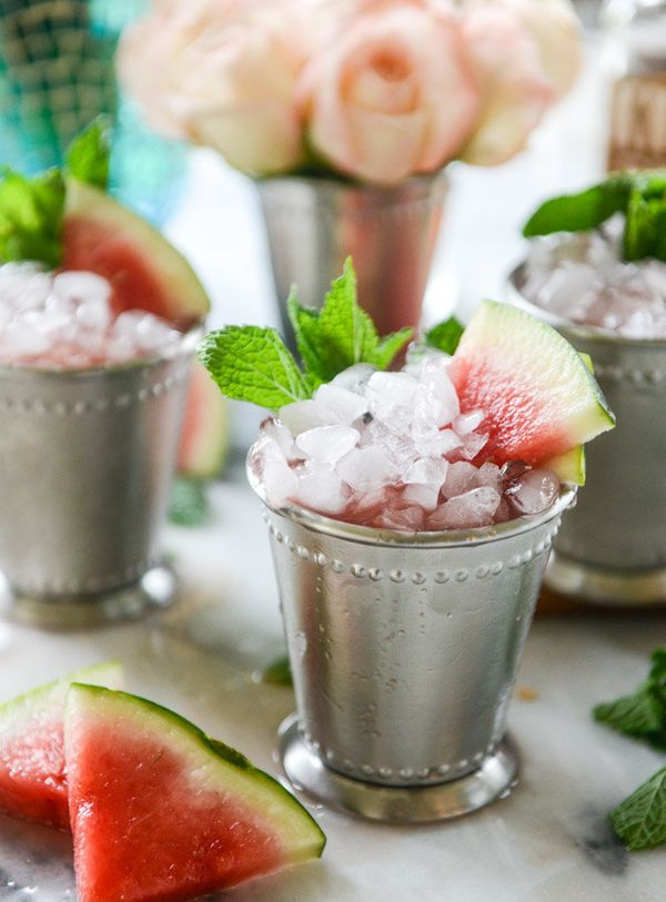 "<strong>Get the <a href=""http://www.howsweeteats.com/2016/04/fresh-watermelon-mint-juleps/"" target=""_blank"">Fresh Watermelon"