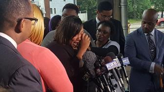 A press conference by the family of Alton Sterling is held after the Department of Justice announced no charges would be filed in connection with the death of Alton Sterling