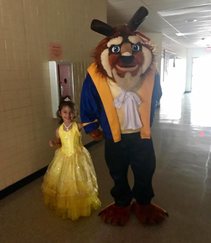 "Gracee ended up taking the Beast from ""Beauty and the Beast"" to her dance."