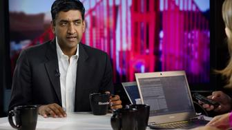 Congressional candidate Rohit 'Ro' Khanna speaks during a Bloomberg West Television interview in San Francisco, California, U.S., on Wednesday, July 2, 2014. Democrat Ro Khanna is running against incumbent Congressman Mike Honda for California's 17th District which includes much of Silicon Valley.  Photographer: David Paul Morris/Bloomberg via Getty Images