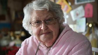 MONTAGUE, NJ - MARCH 12:  Doris Murch, 85, sits at her kitchen table after receiving a 'meals on wheels' food delivery on March 12, 2014 in Lafayette, New Jersey. This year's harsh winter has left many seniors isolated in their homes due to heavy snow. Murch, a widow who lives alone, says she looks forward to her weekly church outings. The 'meals on wheels' program in Sussex County, run by Catholic Charities, serves elderly, ill and at-risk citizens citizens hot food 5 days a week.  (Photo by John Moore/Getty Images)