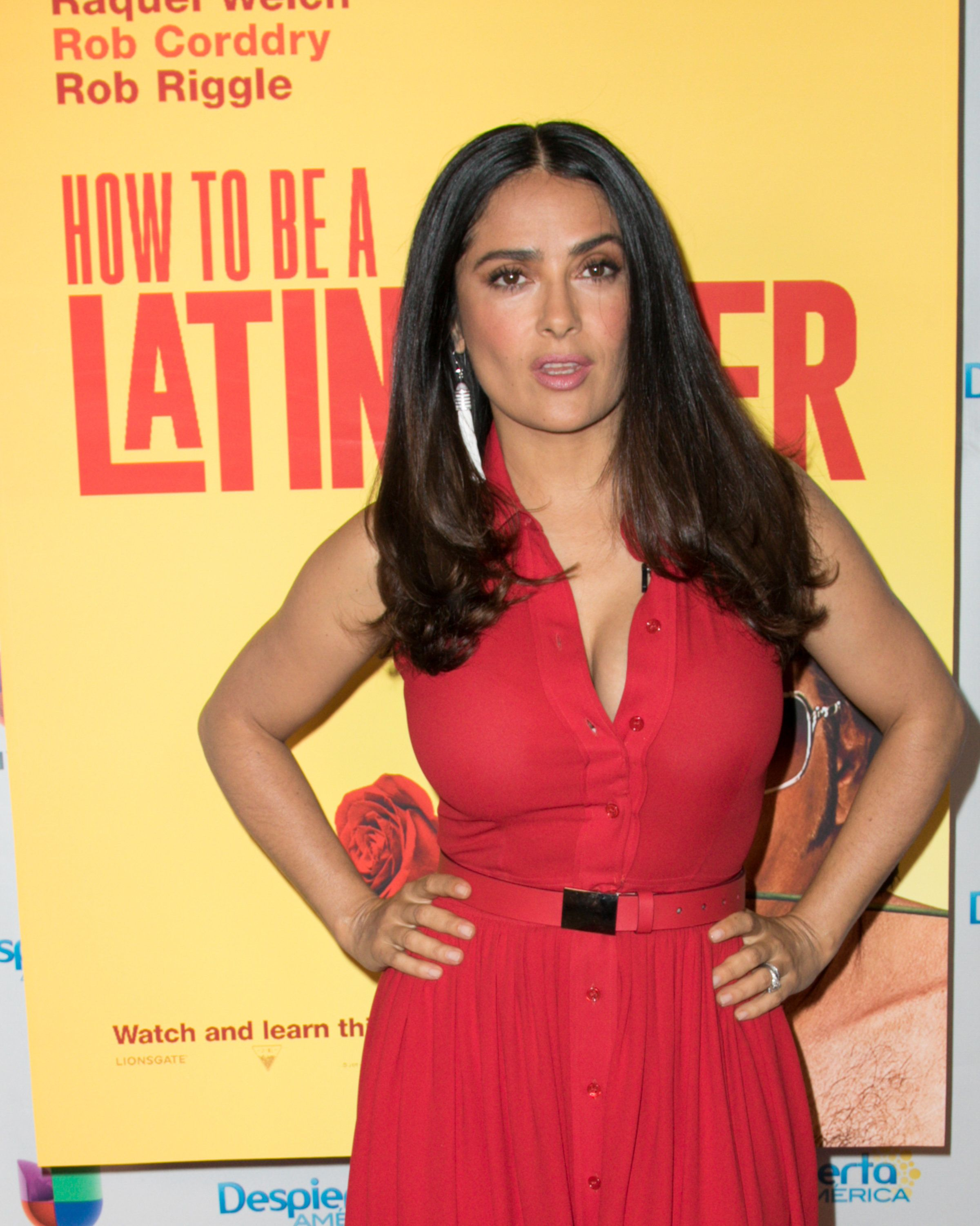 MIAMI, FL - APRIL 24:  Salma Hayek Celebrities Visit Univision's 'Despierta America' on April 24, 2017 in Miami, Florida.  (Photo by John Parra/WireImage)