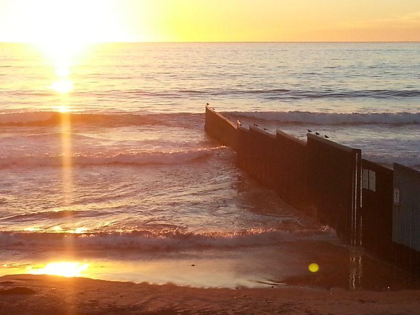 <em>Pacific end of border barrier, Tijuana</em>